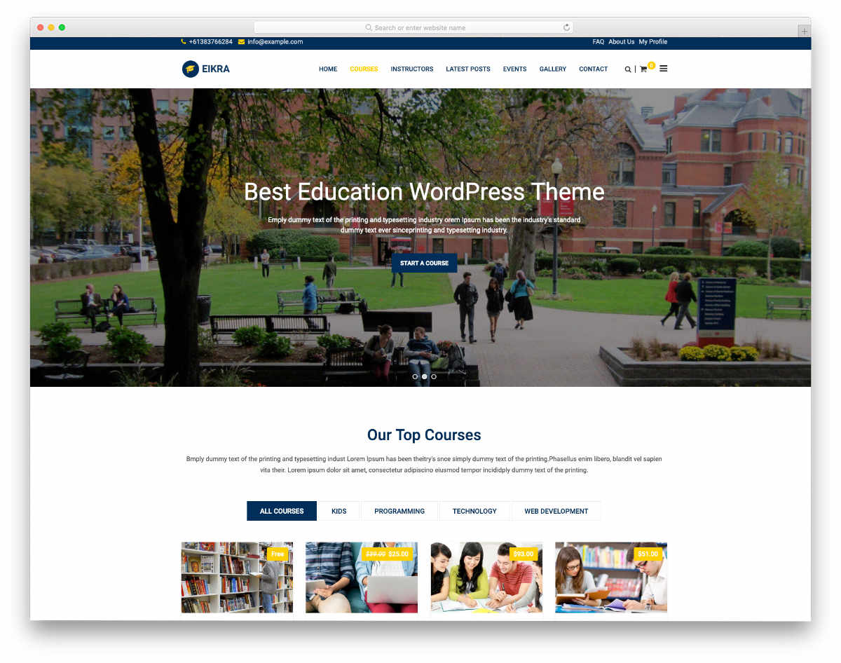 academic websites templates with friendly features