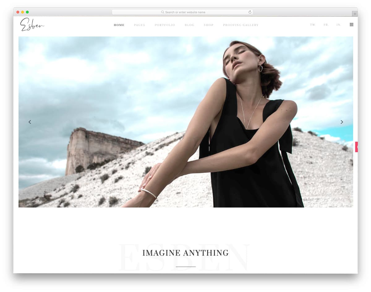 clean and simple website template