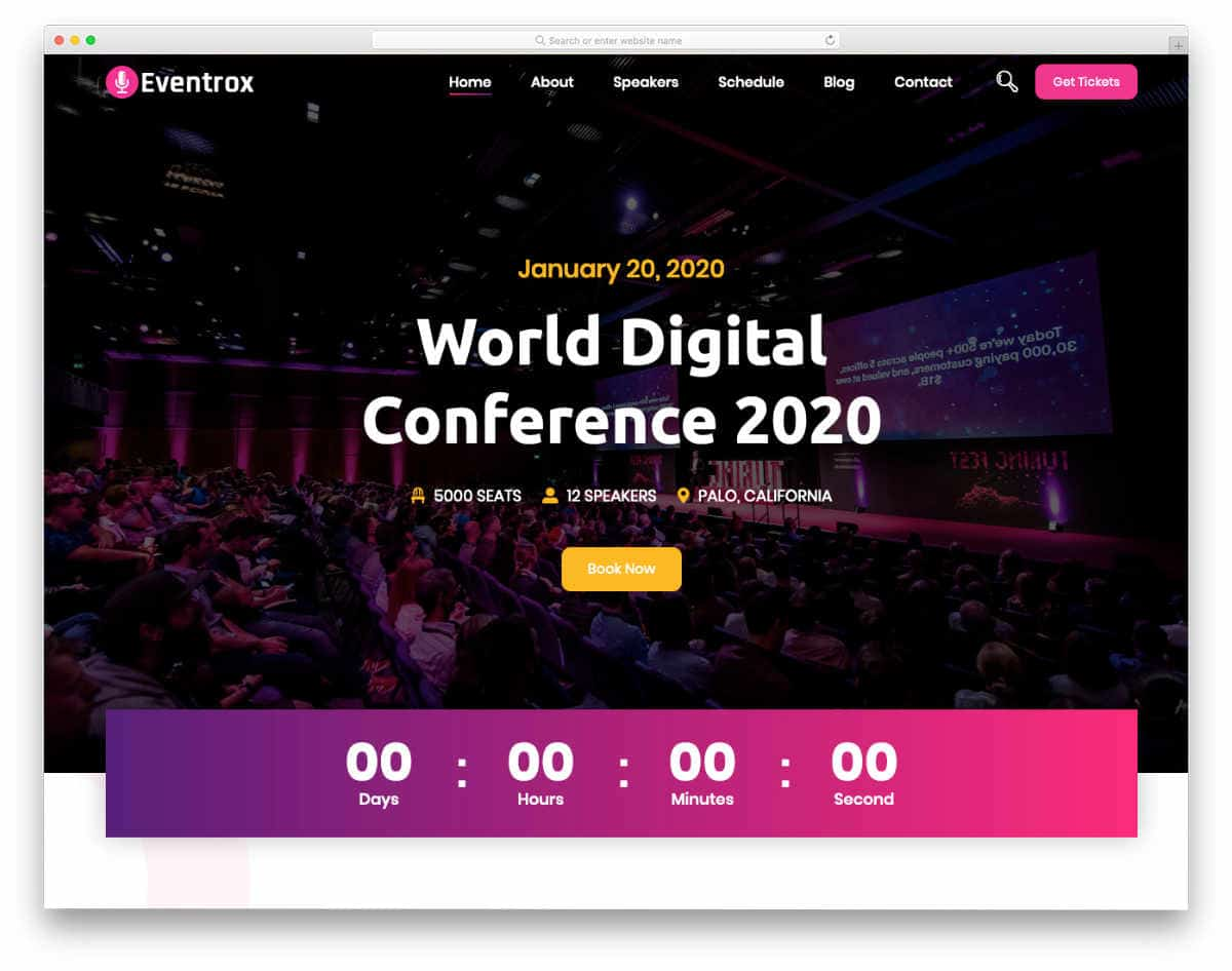 responsive HTML5 templates for event websites