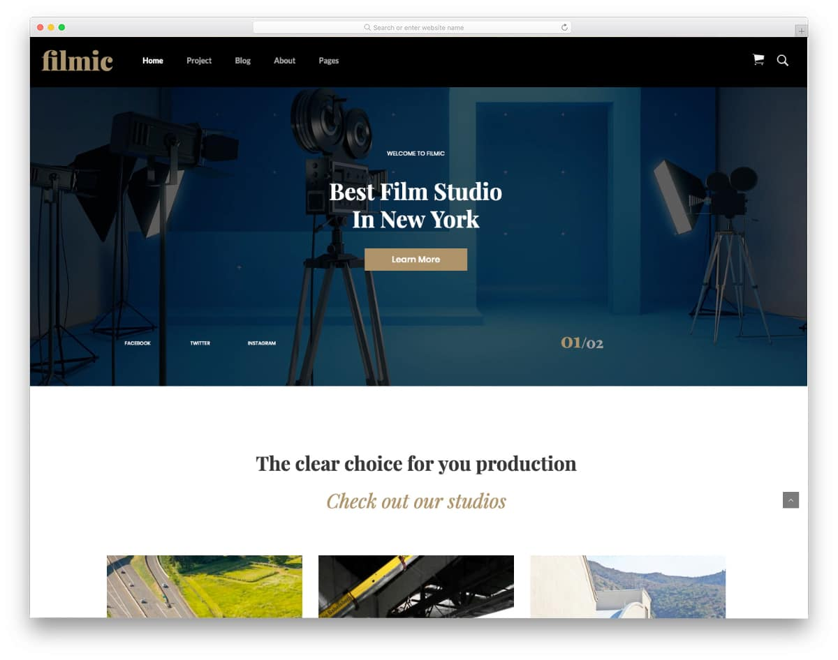 bootstrap studio templates for film studios