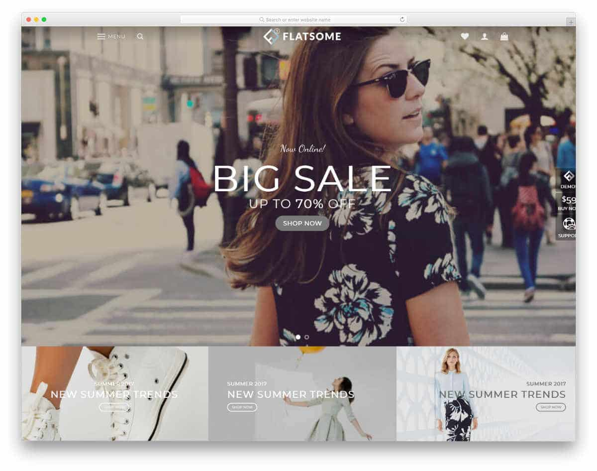 flat style website template
