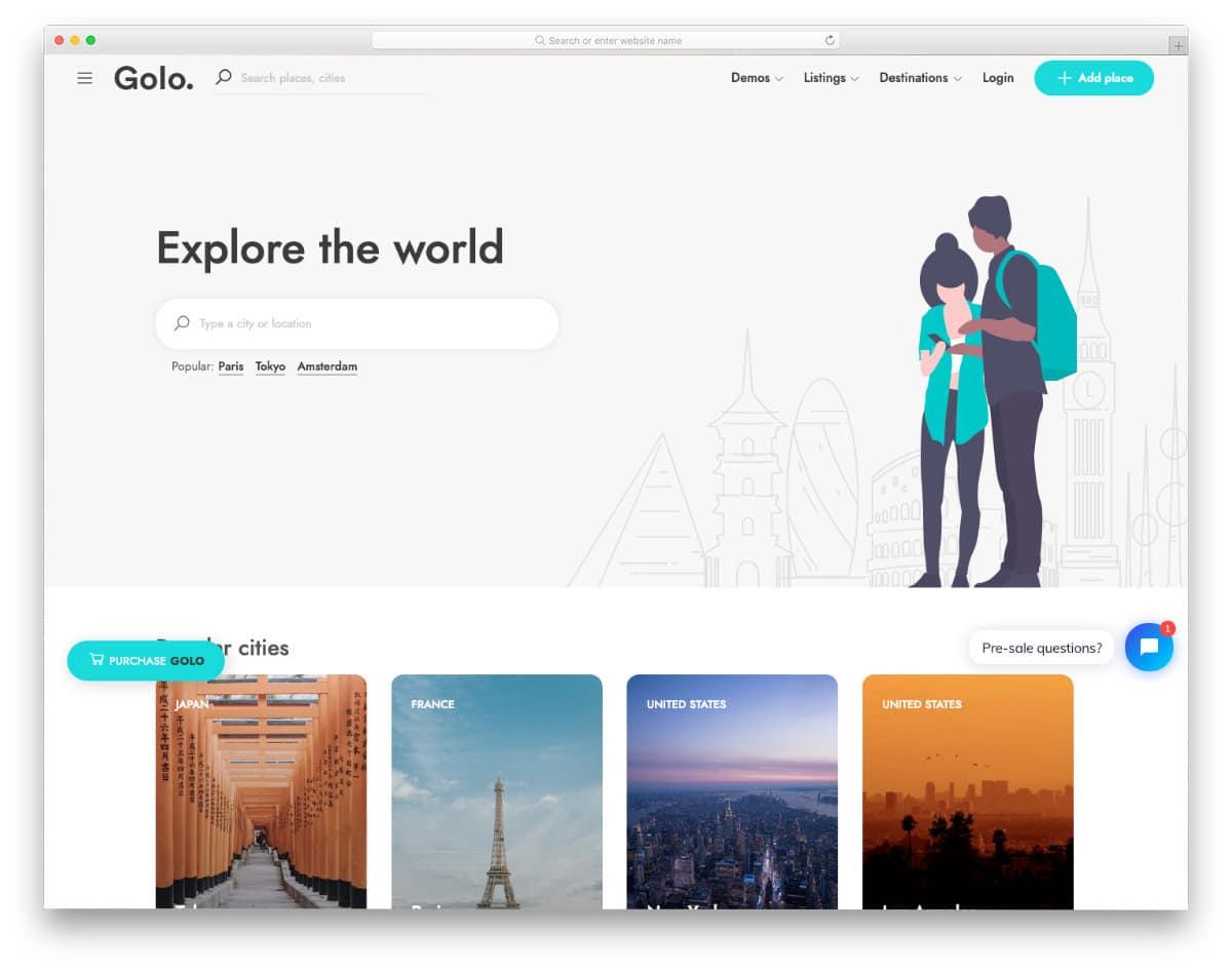 contemporary database website template