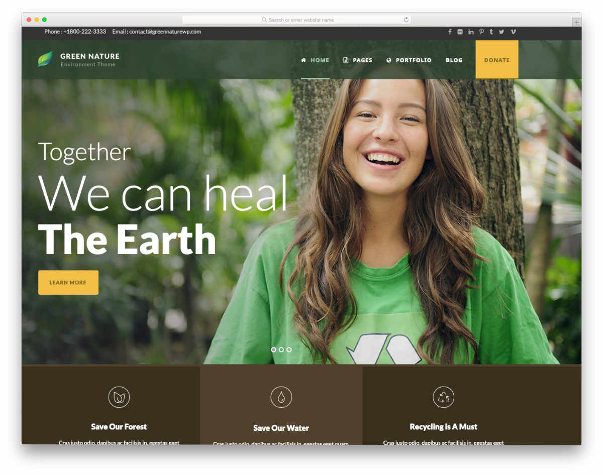 responsive HTML5 templates for charity websites