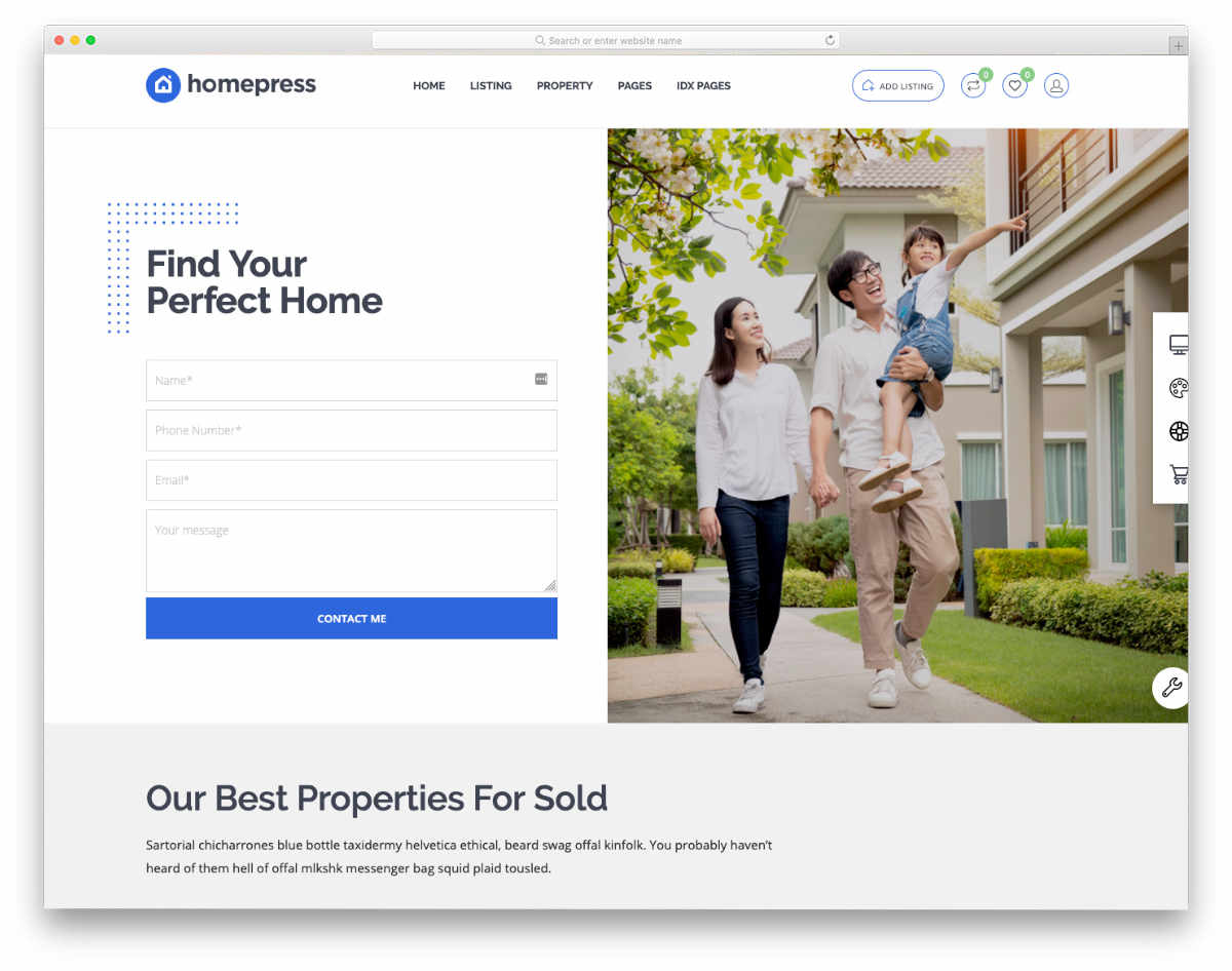 fully functional real estate website templates