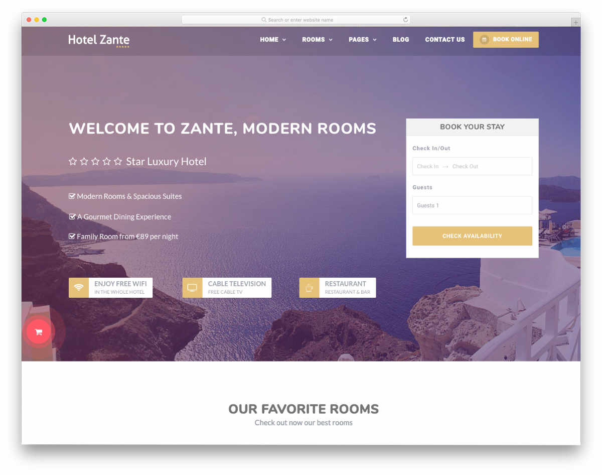 website header design templates with booking forms