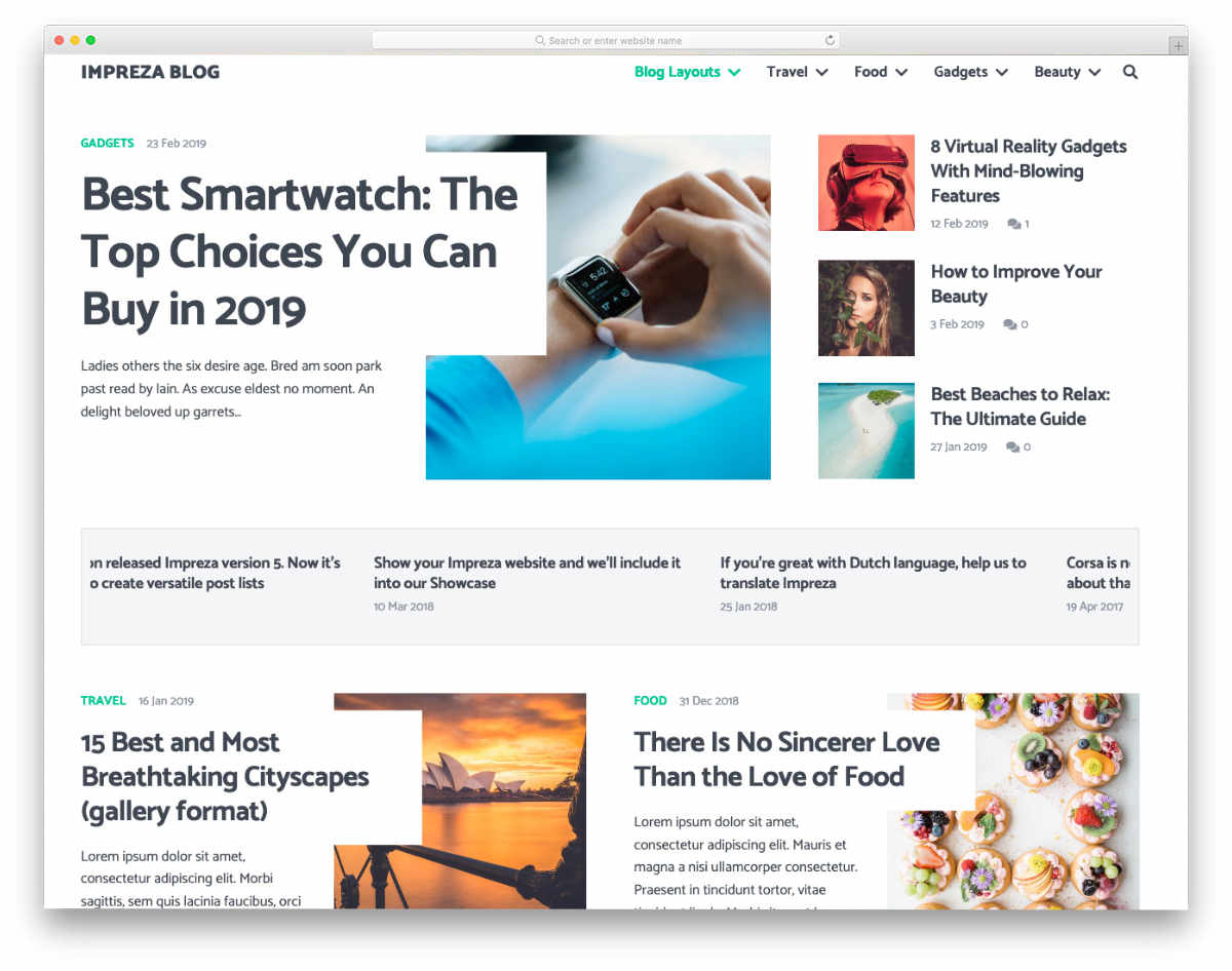 website header design templates to engage readers