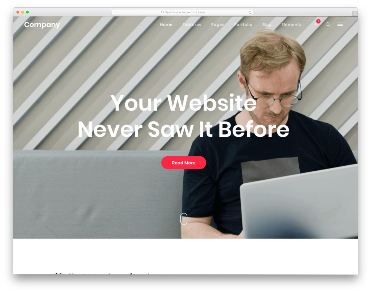minimal and clean website template