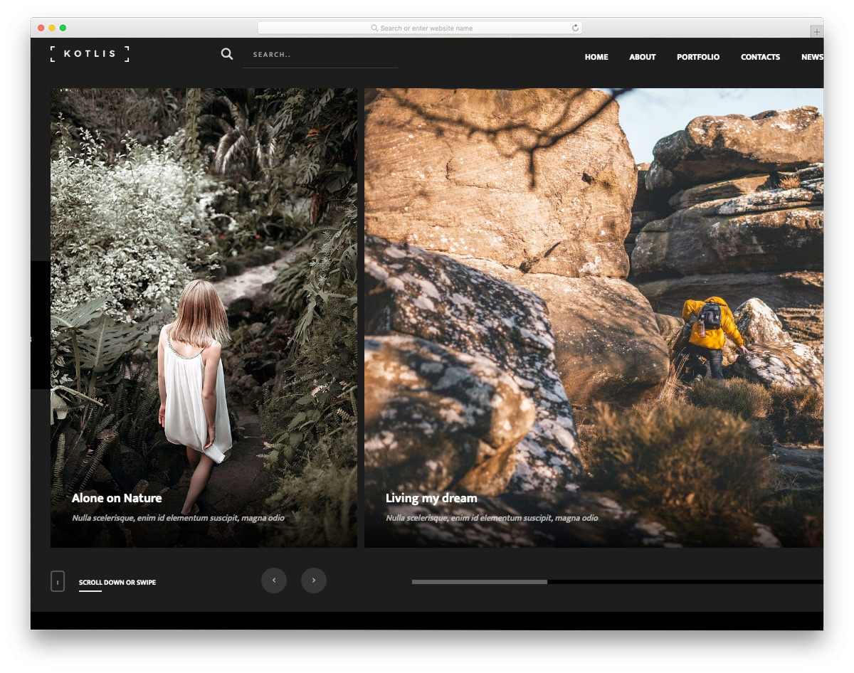 responsive HTML5 templates for photography websites