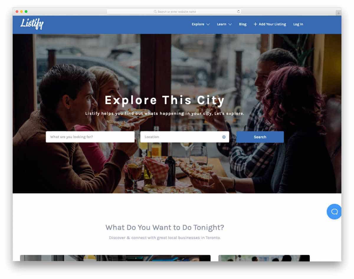 directory website template