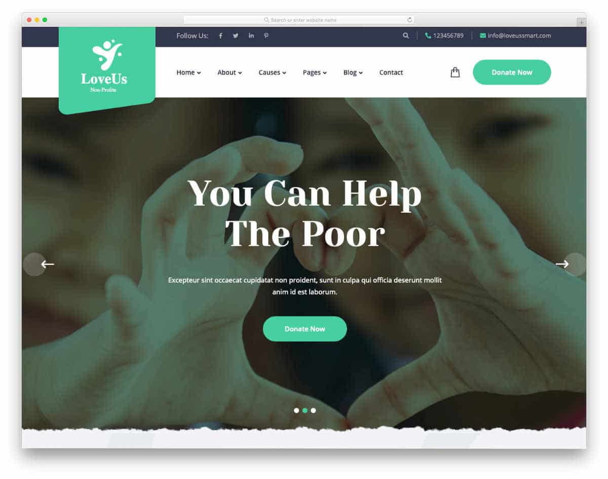 dynamic website templates for charity websites