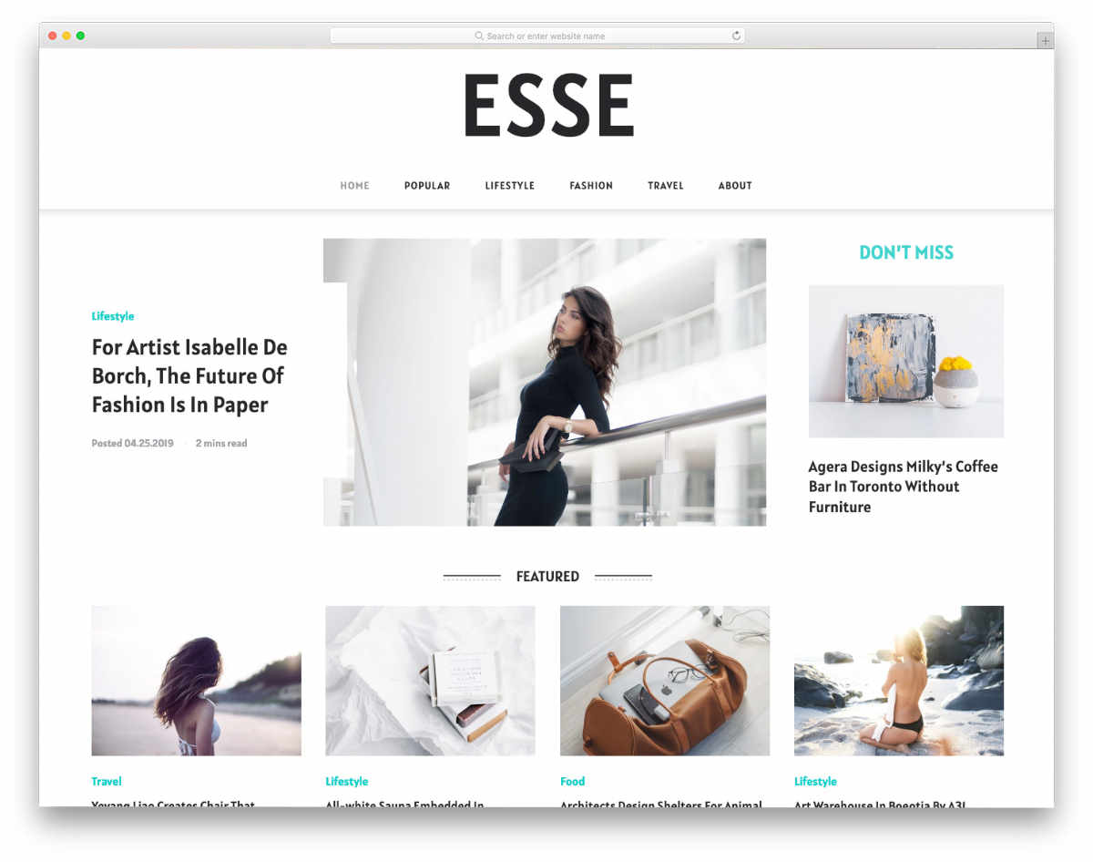 minimalist style website template