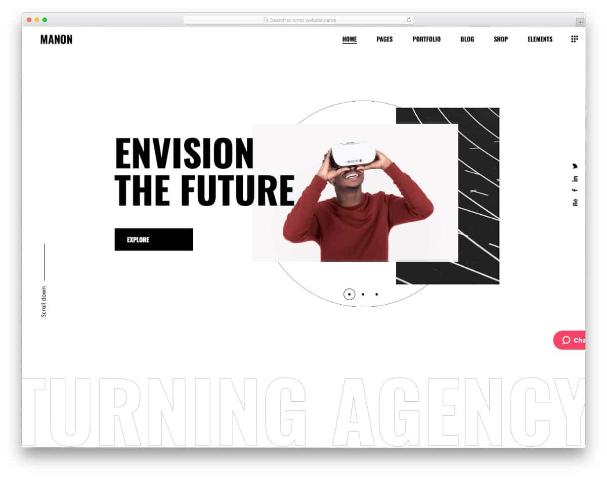 minimalistic website template