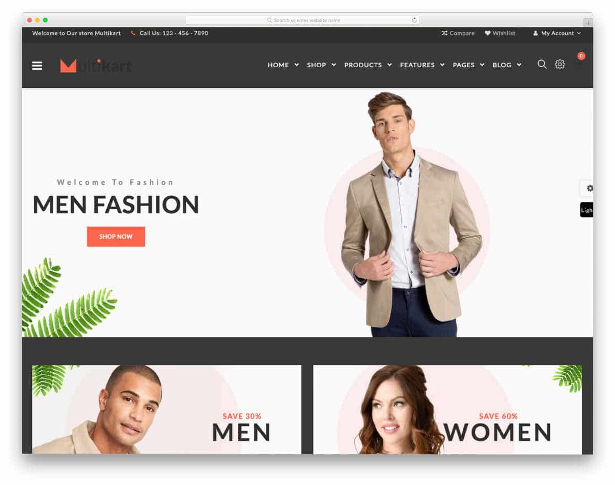 ecommerce responsive HTML5 templates