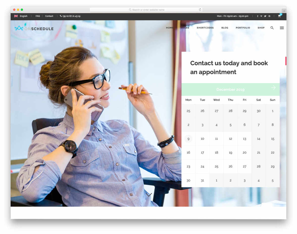 appointment scheduling website templates with useful scheduling options