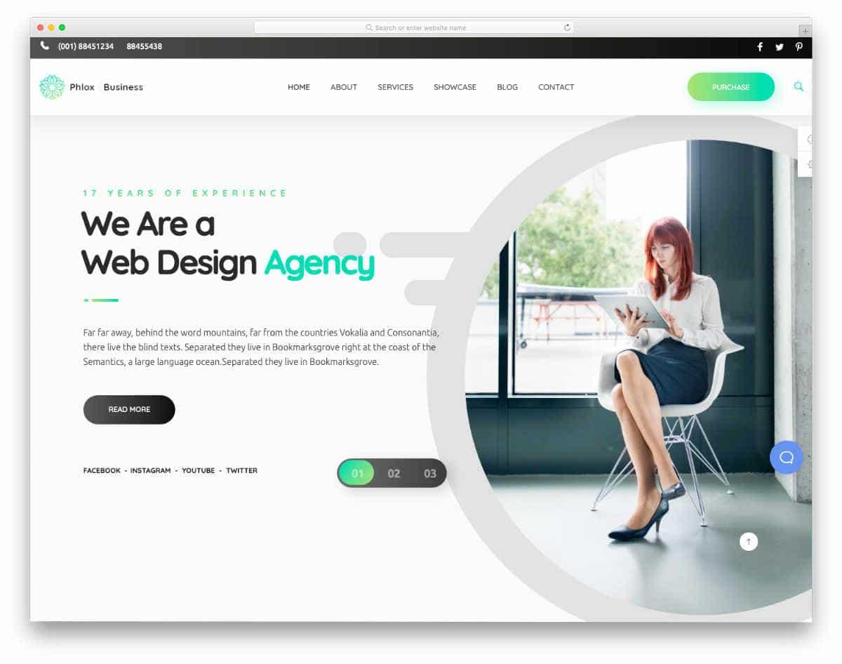 website header design templates with striking look
