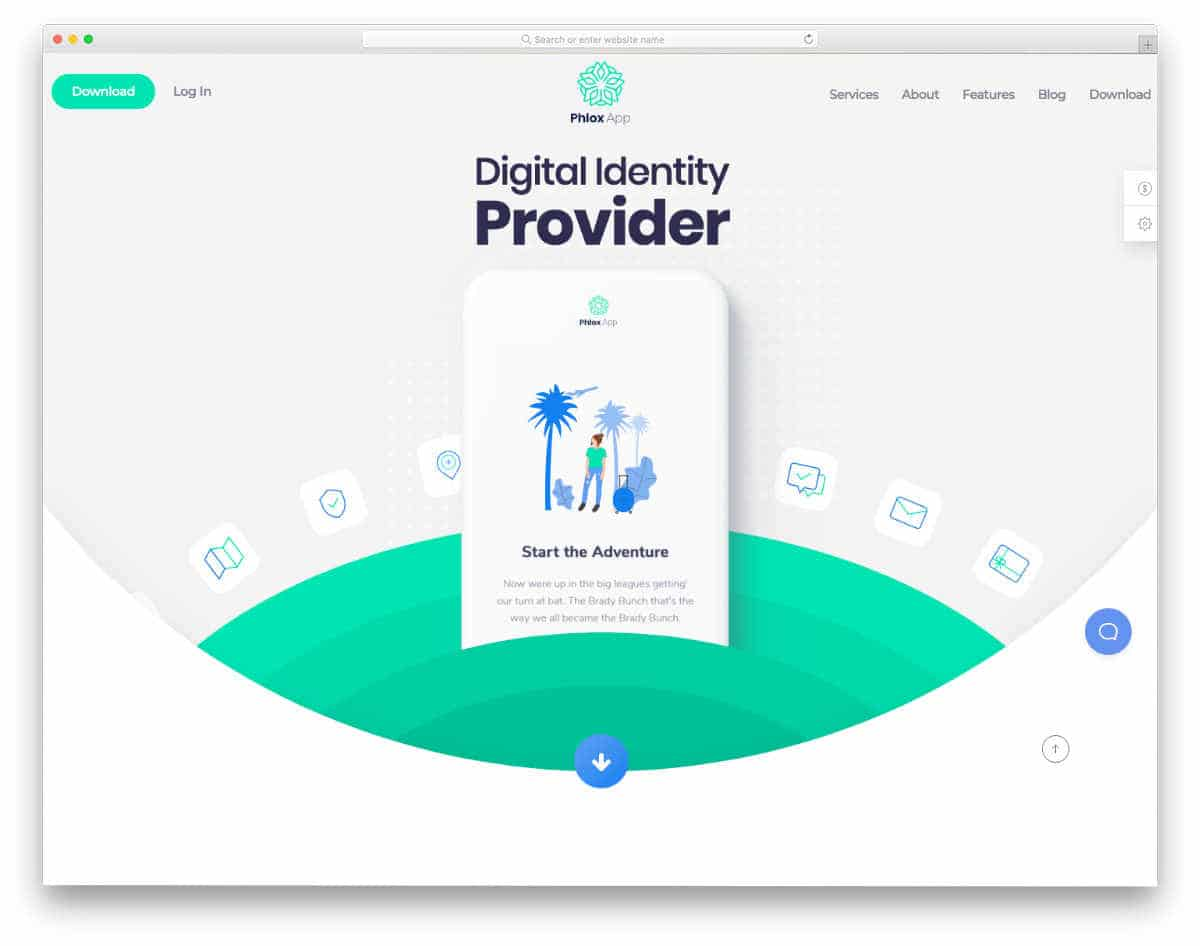 colorful and creative website template