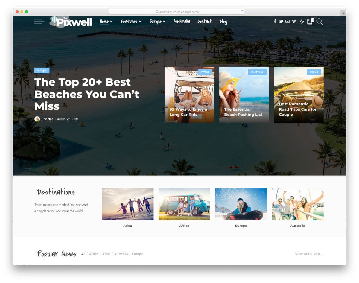 magazine Wysiwyg Web Builder Templates