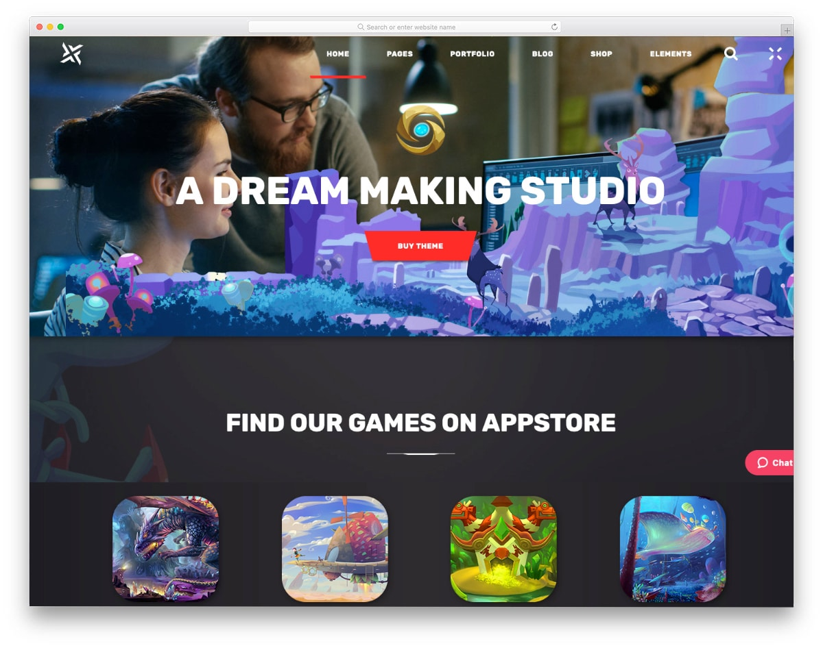 bootstrap studio templates for game studios