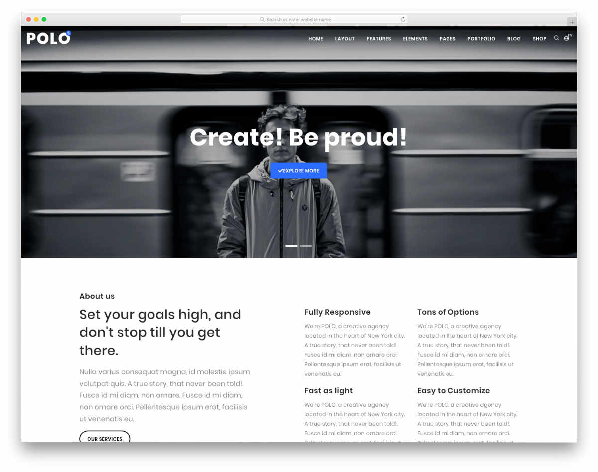 easy to customize website templates