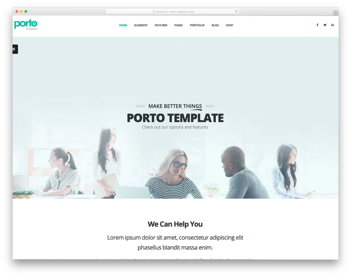 html website template for business websites