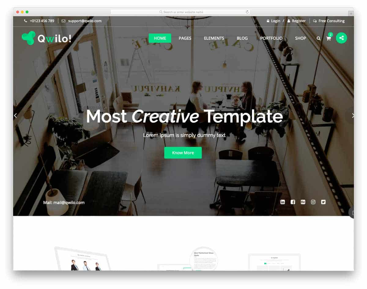 interactive website template