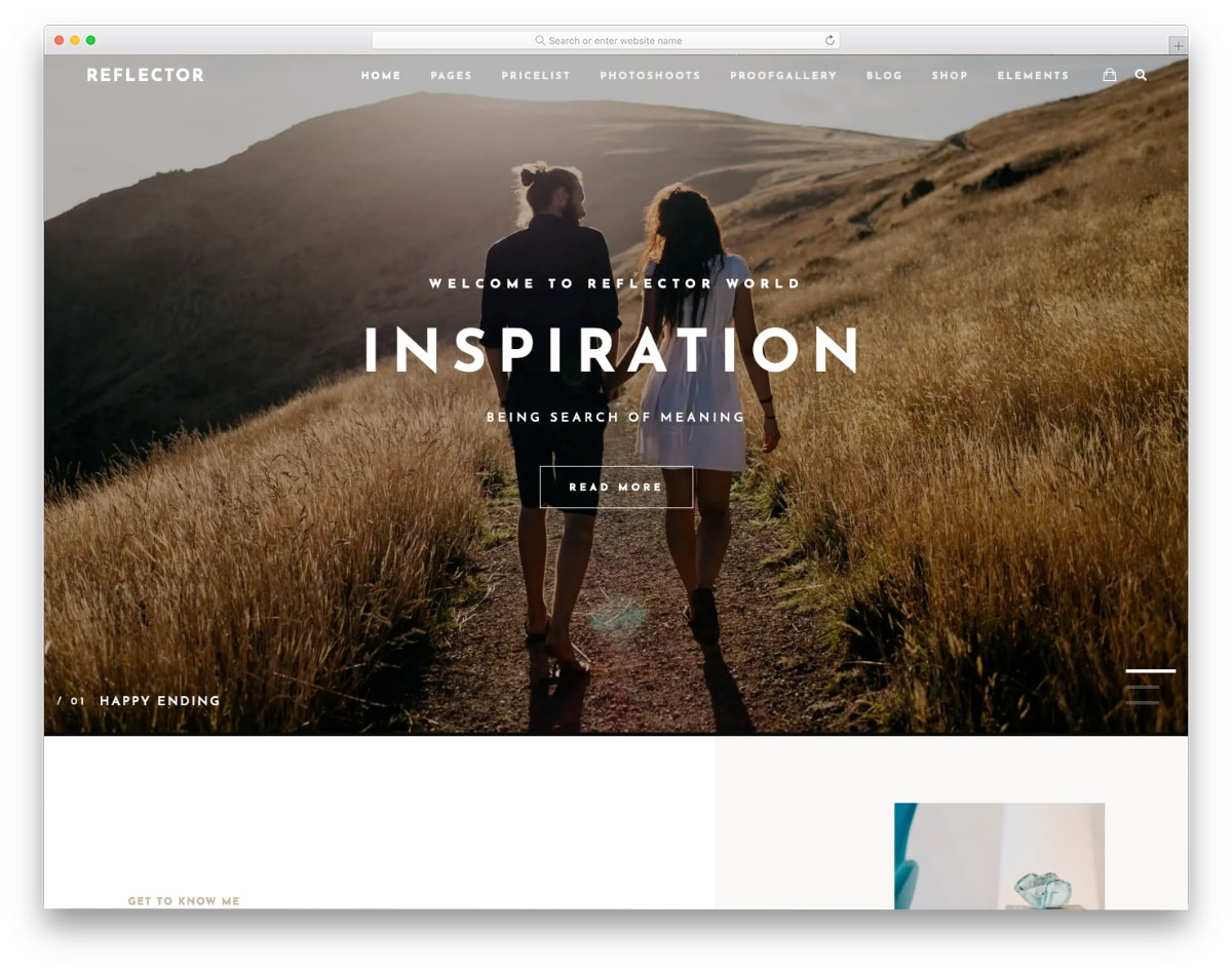 Wysiwyg Web Builder Templates for photography websites