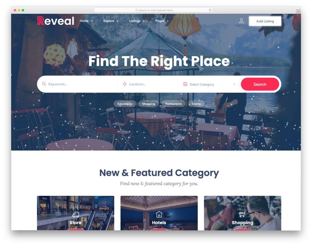 interactive directory website template
