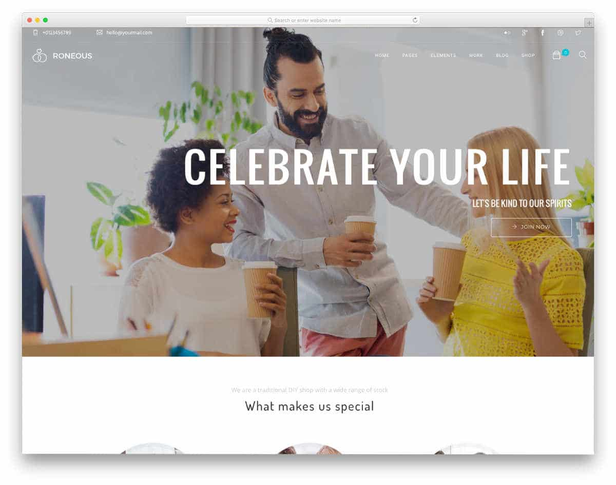 simple and interactive website template