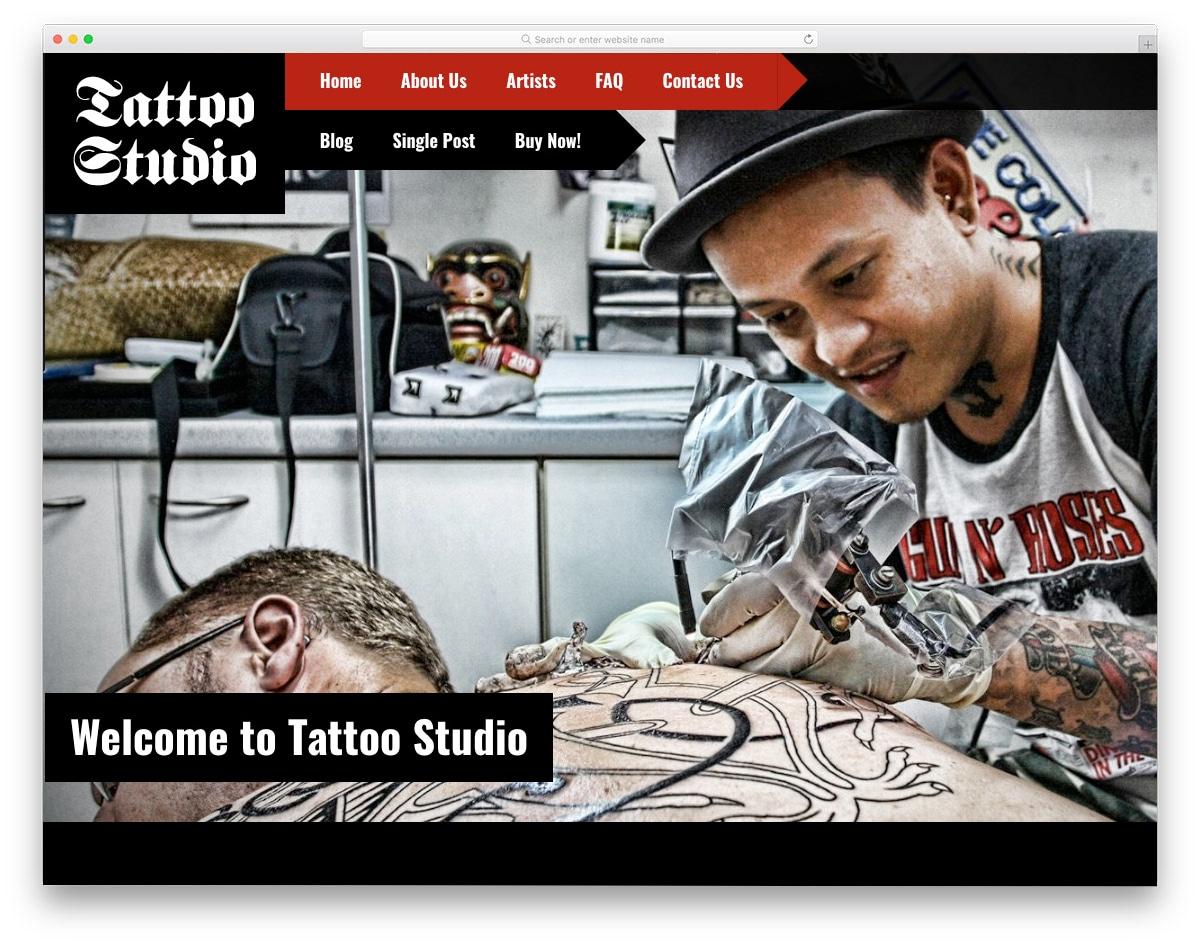 website template for tatoo studios