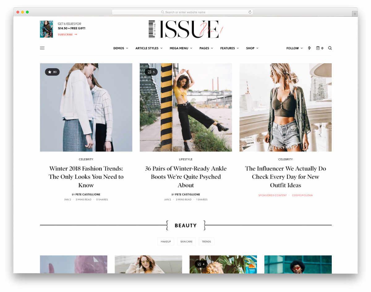 content-focused website header design templates