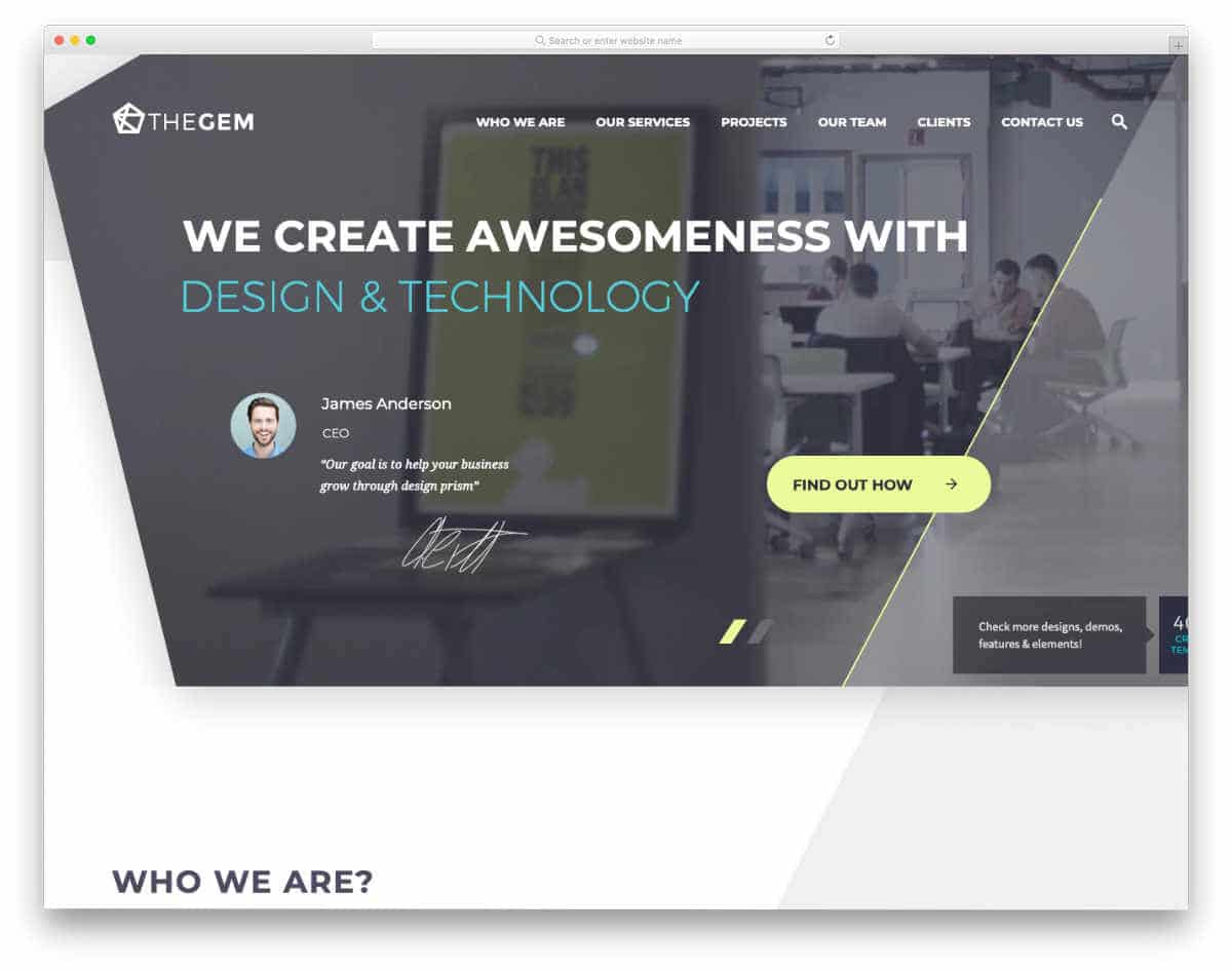 website template for various niches