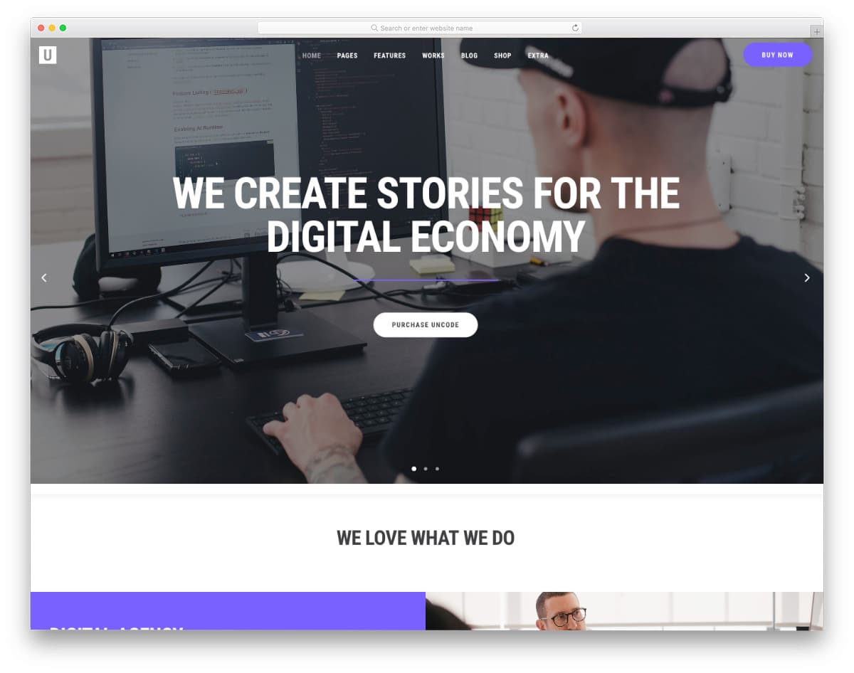 website template with multiple demos