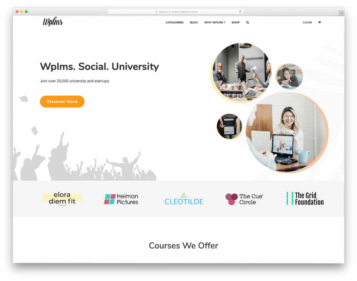 website template for educational institutions
