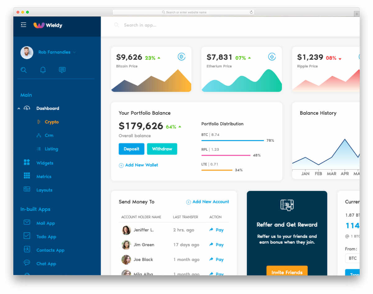 colorful admin templates