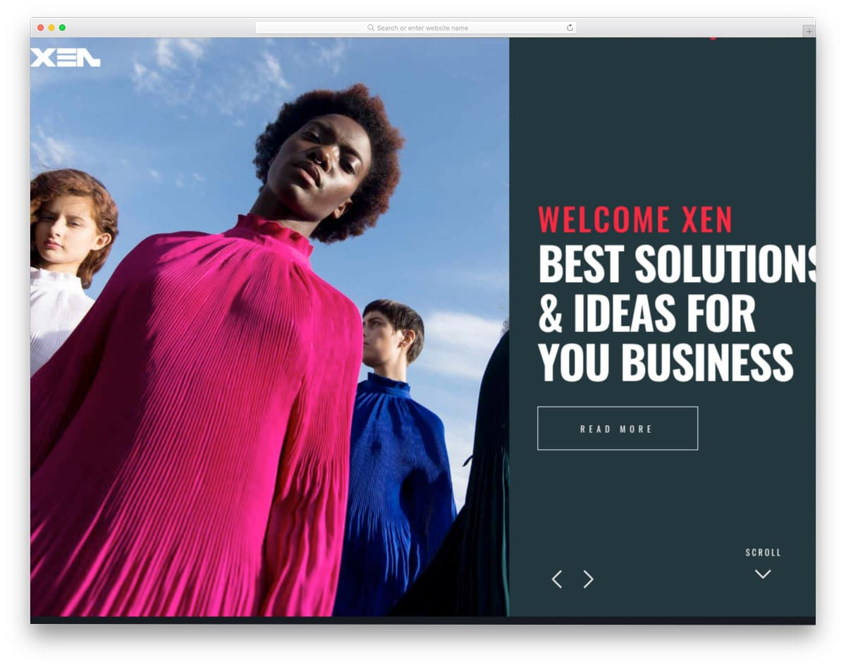 unique style website template