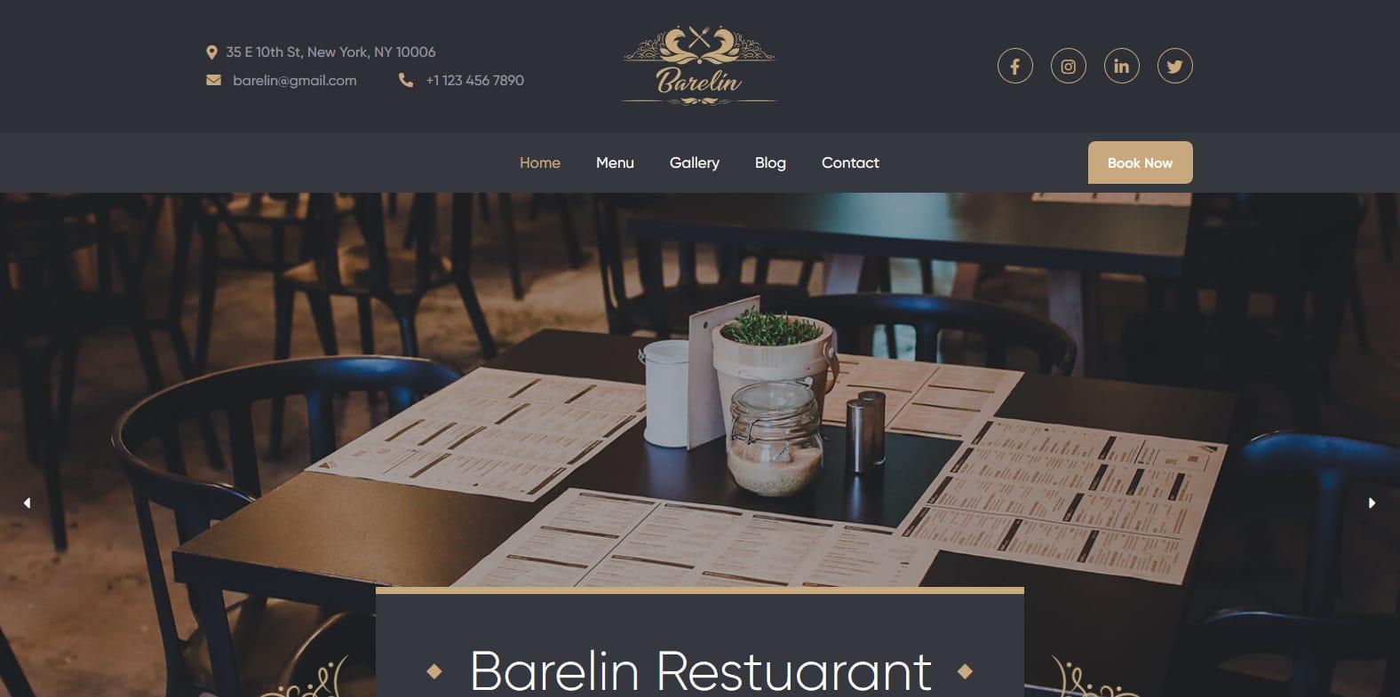 barelin-cafe-restaurant-website-template