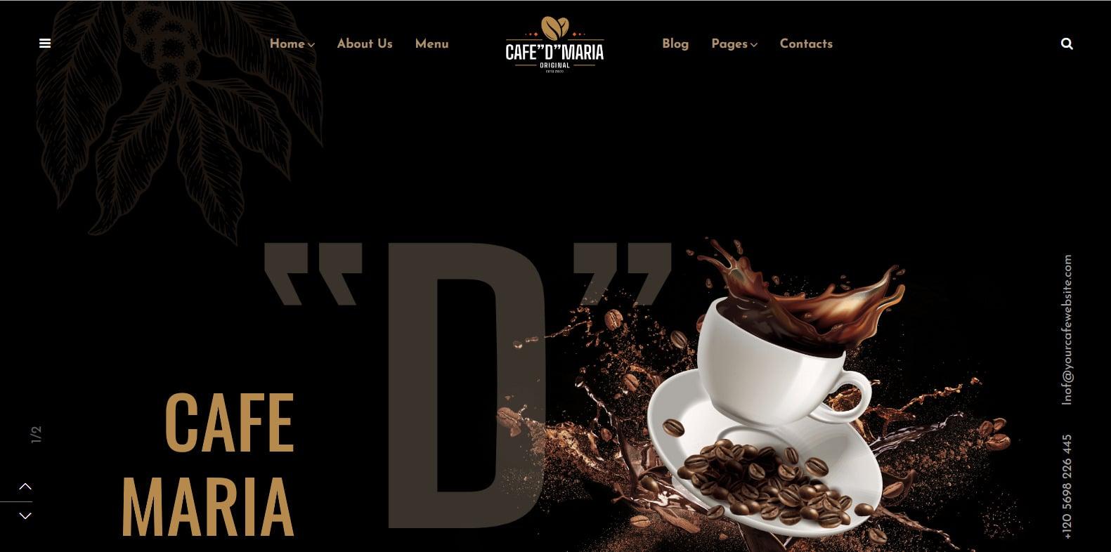 cafe-de-maria-coffee-shop-website-template
