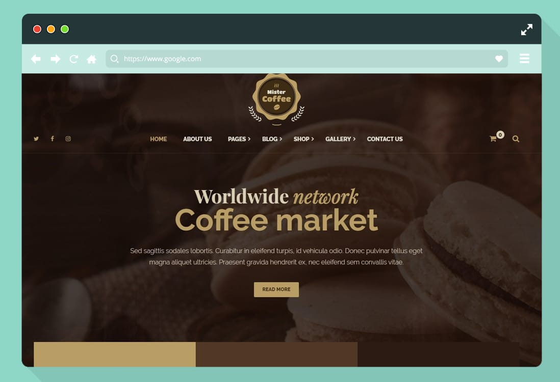 12 wordpress coffee shop website template 2020. Black Bedroom Furniture Sets. Home Design Ideas