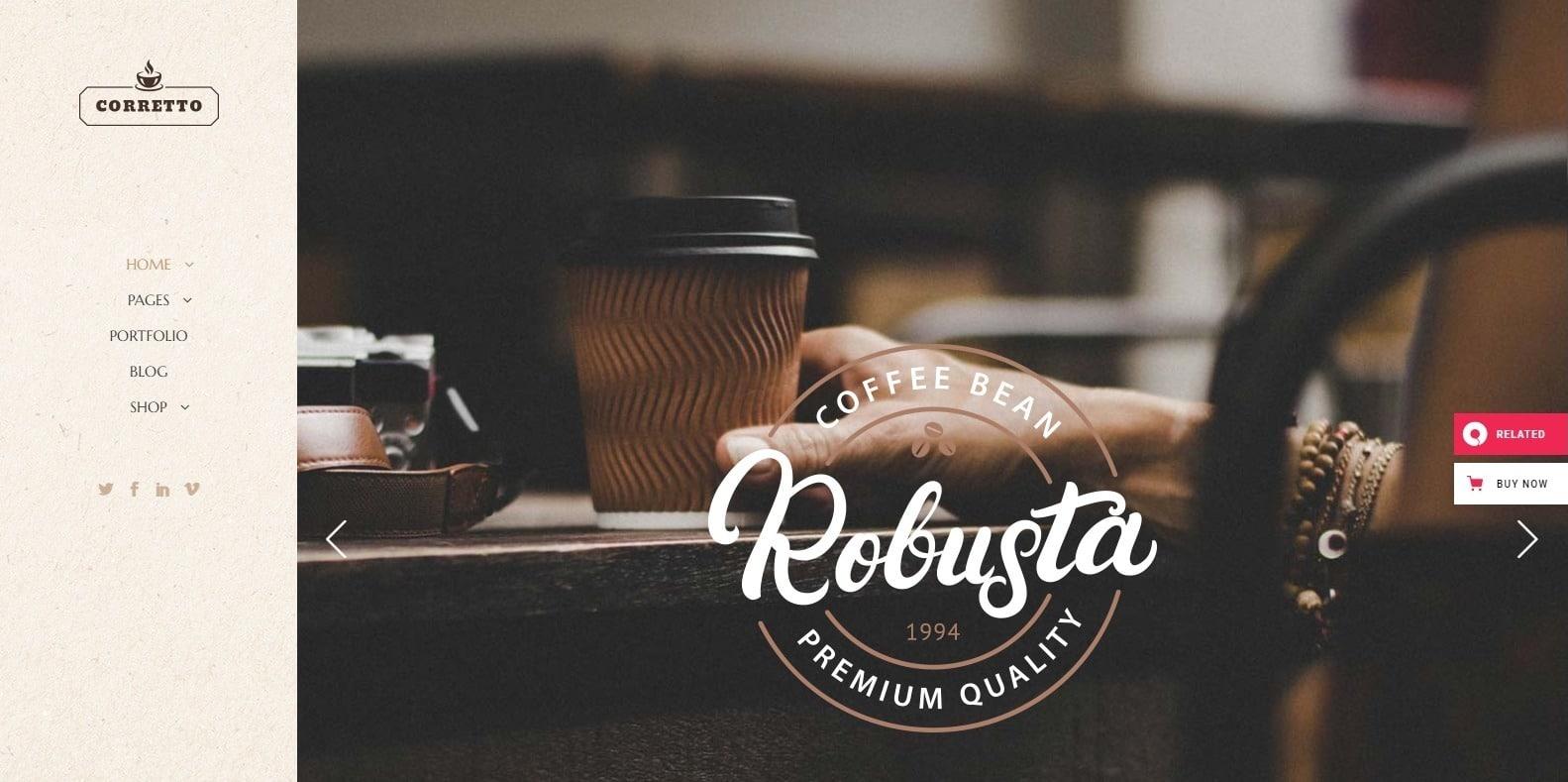 corretto-coffee-shop-website-template