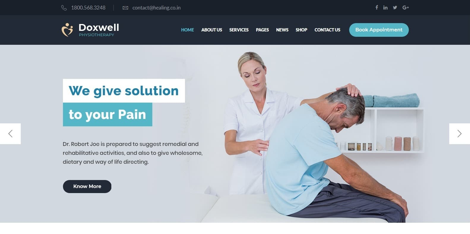 doxwell-wordpress-physical-therapy-website-template
