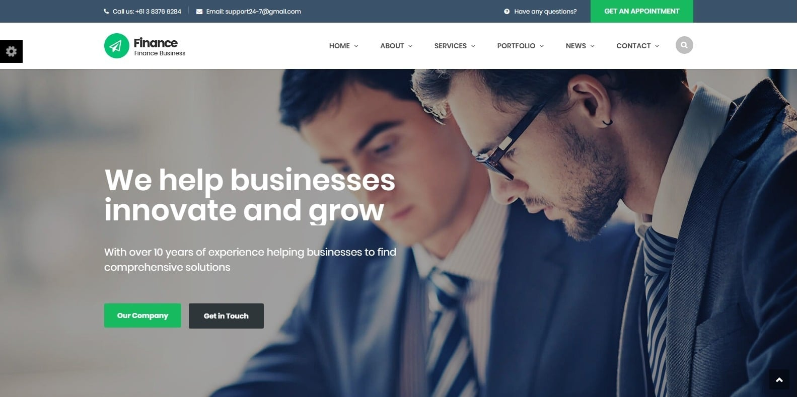 finance-accounting-website-template