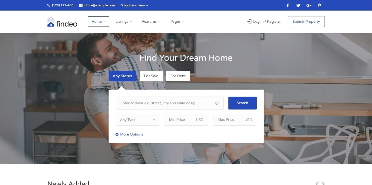findeo-property-management-wordpress-website-template