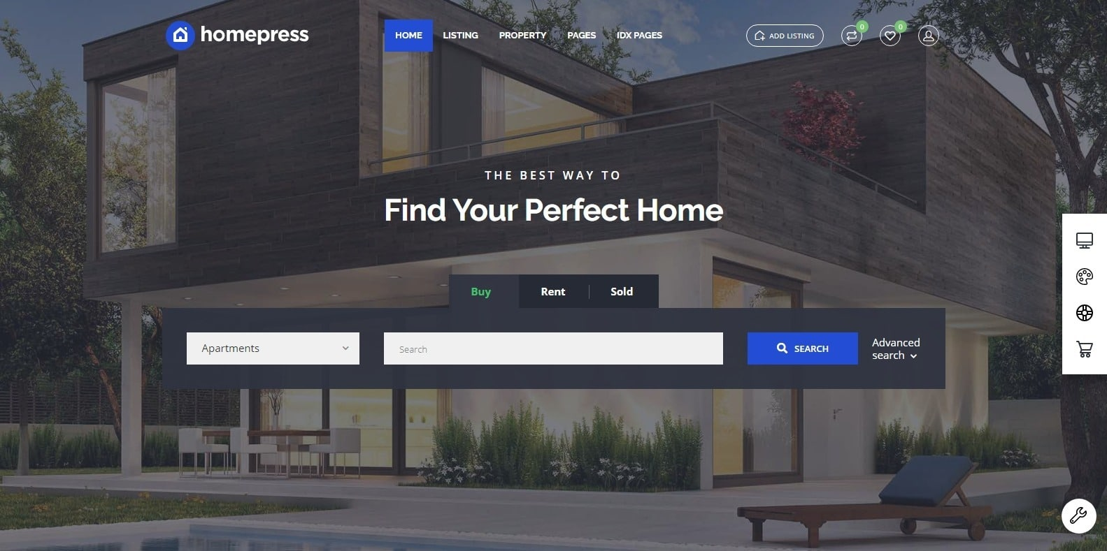 homepress-property-management-website-template