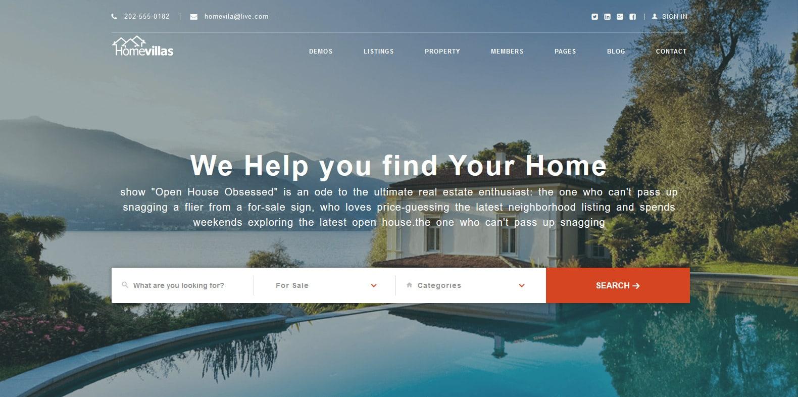 homevillas-property-management-websote-template
