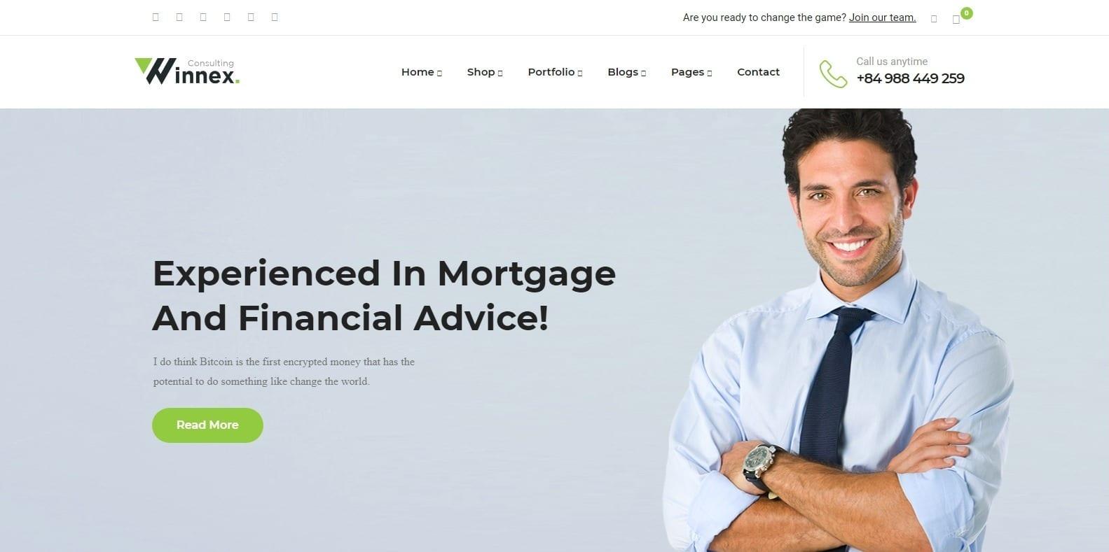 winnex-accounting-website-template