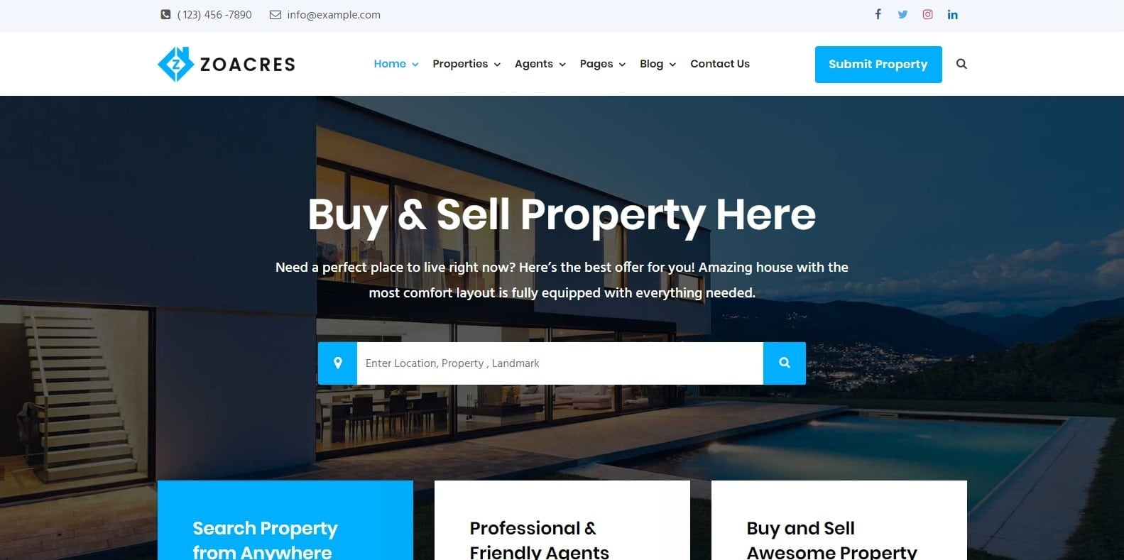 zoacres-property-management-wordpress-website-template