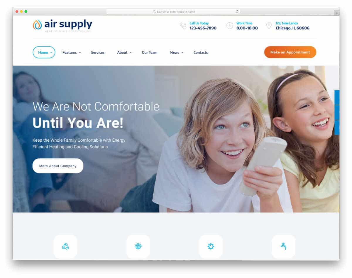 modern interactive website template