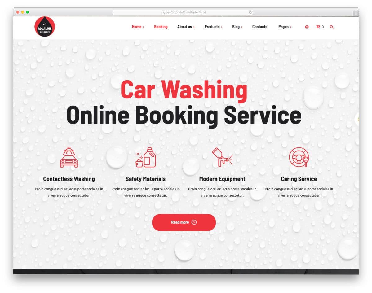 interactive auto detailing website template