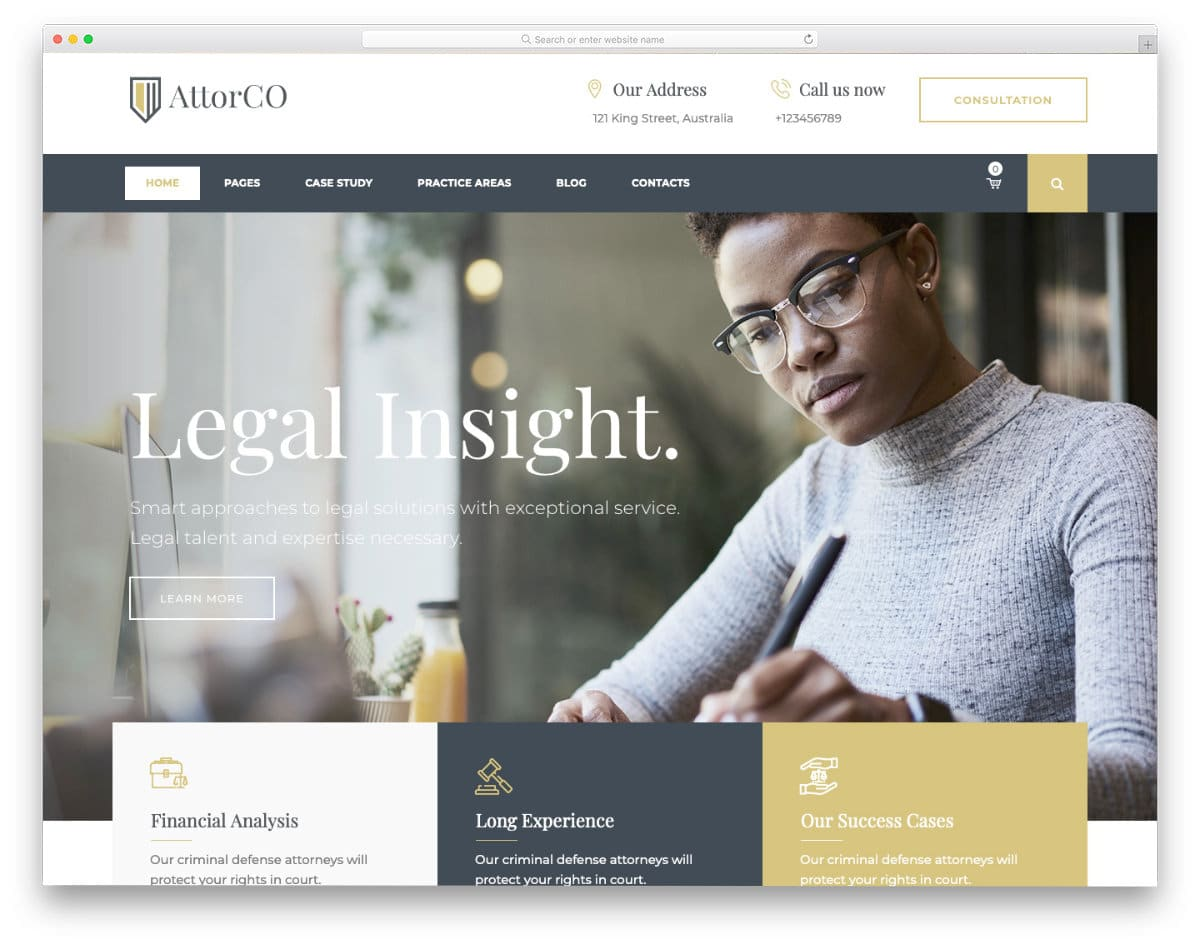 multipurpose law and notary website template