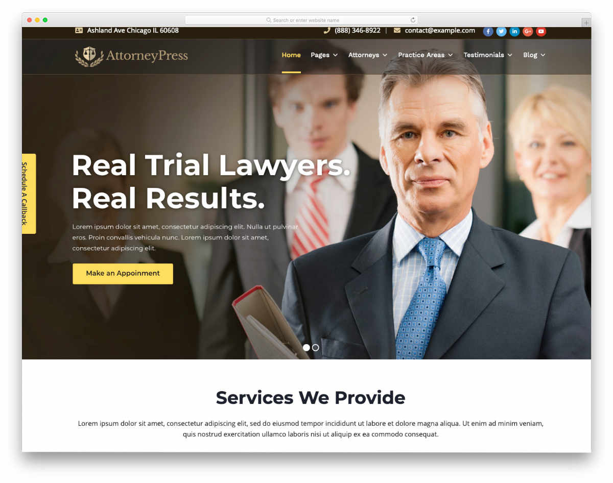 premium looking notary website template